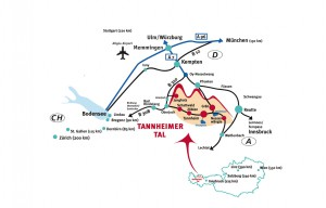Anfahrt Tannheimer Tal